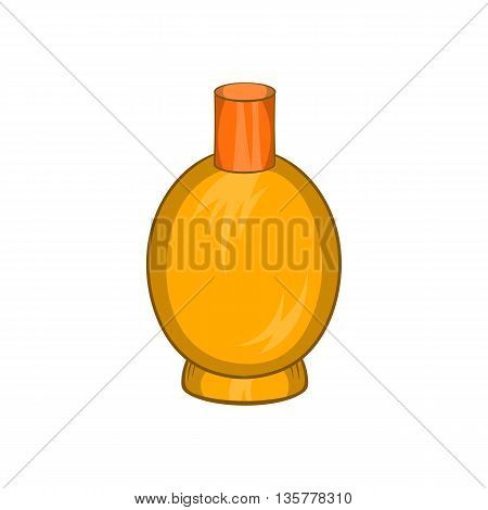 Packaging for perfume icon in cartoon style isolated on white background. Production and packaging symbol