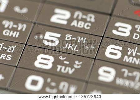 keypad of a cell phone number for a background design technology.