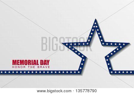 Happy Memorial Day. Vector illustration. Celebration. Sart