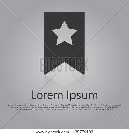 Vector Icon Of Bookmark With Star.