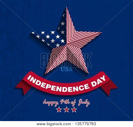 Independence day. Vector Illustration. July fourth. USA