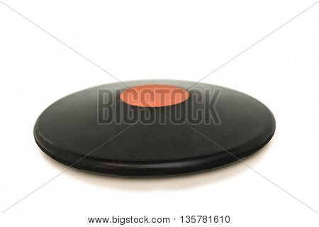 Discus throw on isolated white background