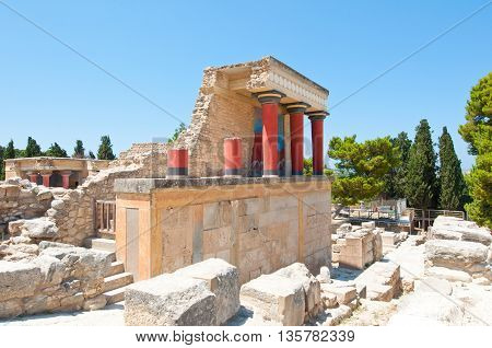 Knossos palace on the island of Crete.