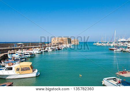 The Venetian fortress of Rocca al Mare in the harbor of Heraklion.