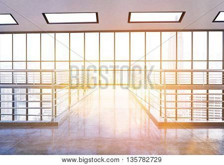 Empty Office Interior Front
