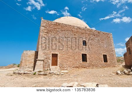 Sultan Ibrahim mosque. Fortezza on the island of Crete Greece.