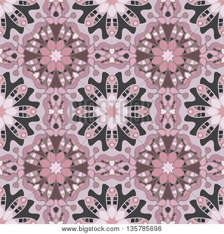 Decorative seamless pattern in beautiful vintage colors. Boho style. Can be used for wrapping paper, scrapbooking, print, invitation and other
