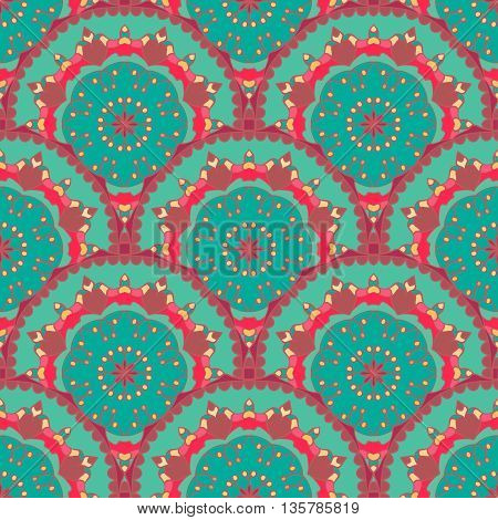 Seamless pattern. Decorative pattern in beautiful colors. Vector background