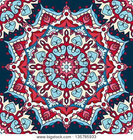 Seamless pattern. Decorative pattern in beautiful colors. Vector illustration