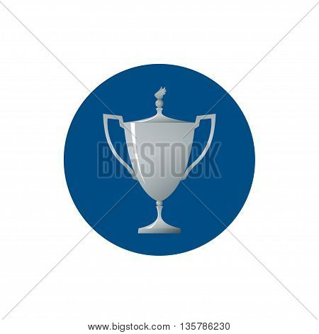 Icon cup of winner, icon silver trophy cup