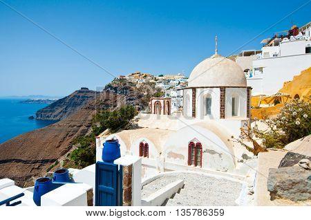 Fira Orthodox church on Thera (Santorini) Greece.