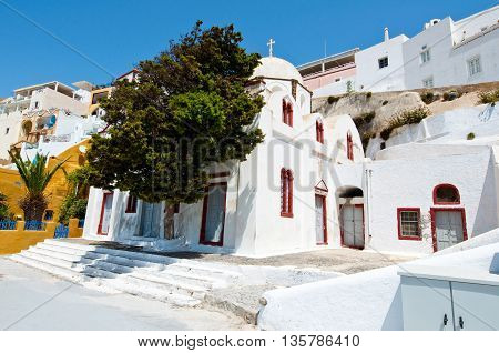 Orthodox church in the capital of Thera also known as Santorini Fira in Greece.