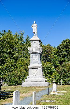 Civil War Memorial in Bar Harbor Maine