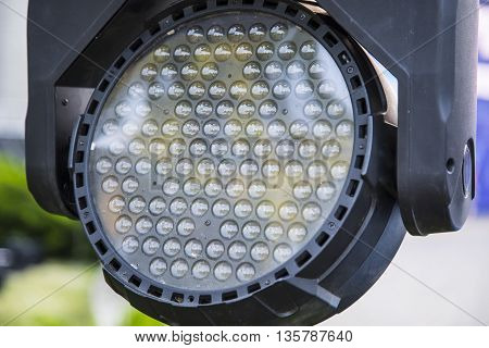 Outdoor disco lights close-up for any background