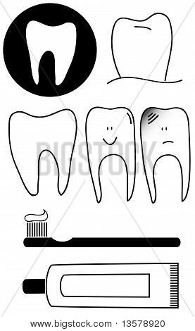 Tooth dental tools