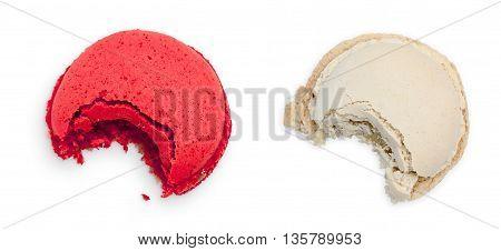 Two Bitten Macarons