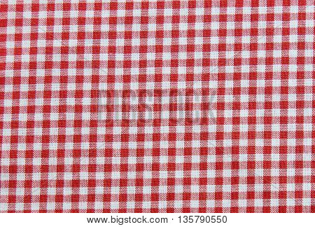 Red and white tablecloth background plaid fabric texture