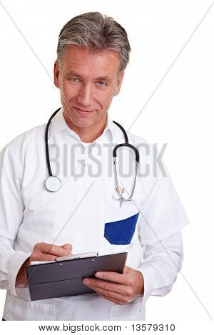 Senior Physician With Clipboard