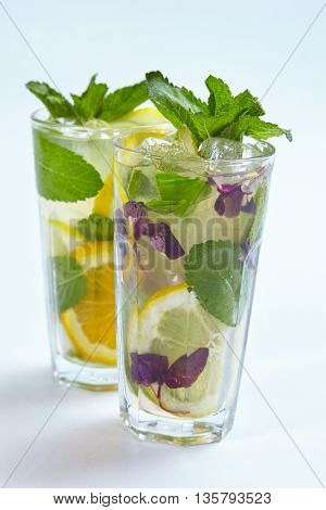 summer lemonade isolated