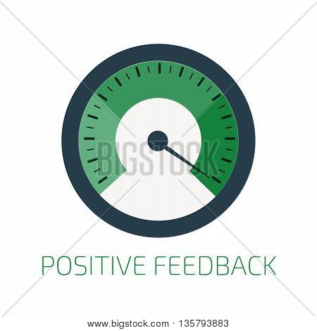 Positive feedback indicator. Stock vector. Vector illustration.