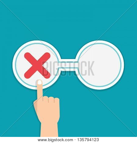 Negative and Positive feedback concept. Stock vector. Vector illustration.
