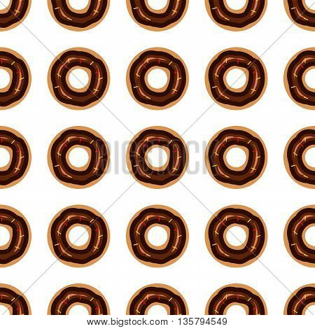 Donuts seamless pattern. Stock vector. Vector illustration.