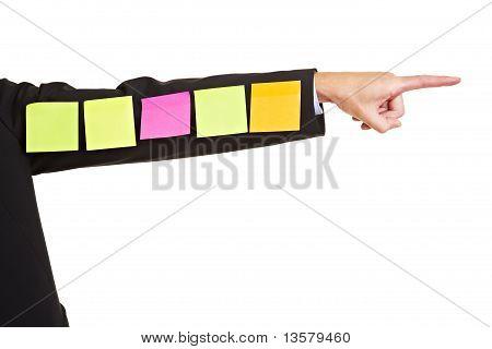 Sticky Notes On Business Arm