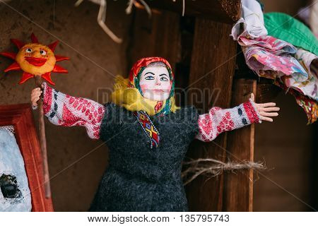 Belarusian Folk Doll. National Folk Dolls Are Popular Souvenirs From Belarus.