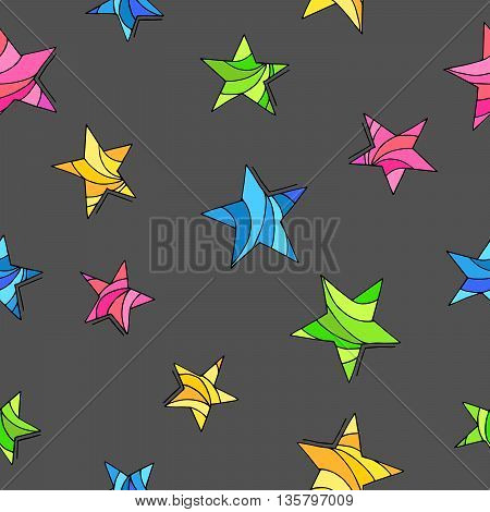 Stars graphic art color seamless pattern background illustration vector