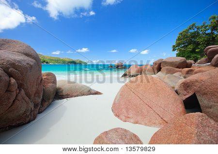 Idyllic Beach In Seychelles