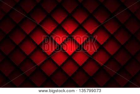 Red square vector background box overlap layer angle with space shadow for text and message modern artwork design