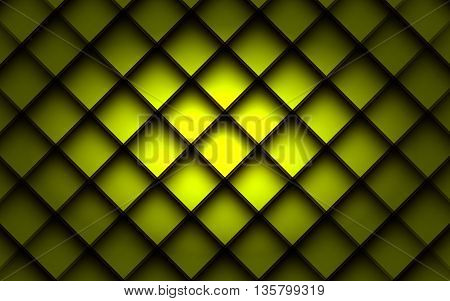 Green square vector background box overlap layer angle with space shadow for text and message modern artwork design