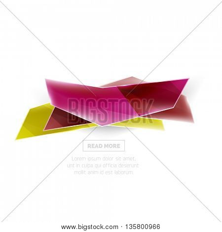 Vector geometric shape ad promo banner. Abstract universal layout