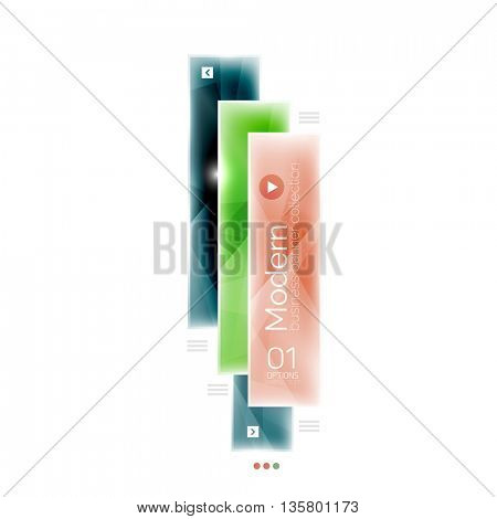 Business stripes geometric infographics box. Abstract geometric infographics layout. Glass modern universal template.