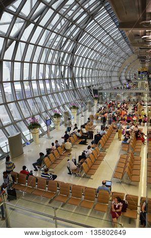 Modern Design Of Bangkok International Airport In Bangkok