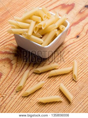 Penne In White Bowl
