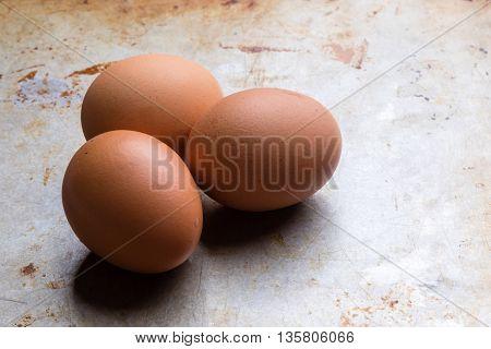 Eggs On A Steel Plate