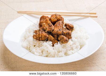 Condimented Chicken With Rice