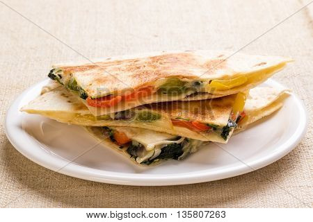 Quesadilla With Cheese And Vegetables