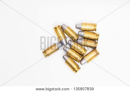 Cartridges Of .45 Acp Pistols Ammo Lead Bullet.