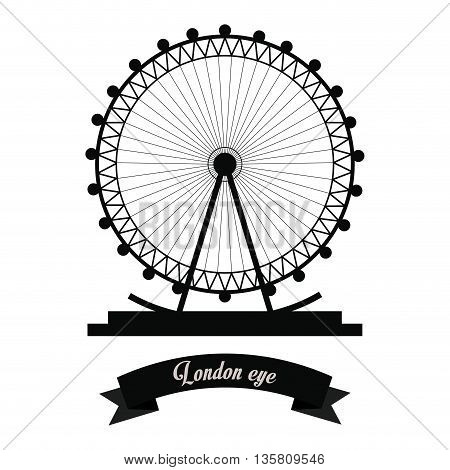 United kingdom concept represented by london eye  icon. isolated and flat background