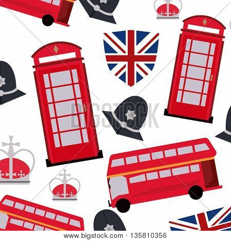 United kingdom concept represented by culture landmark icon. Colorfull and flat illustration