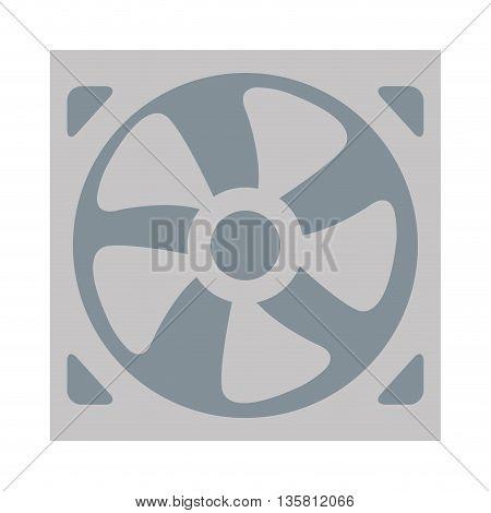 flat design of fan icon vector illustration
