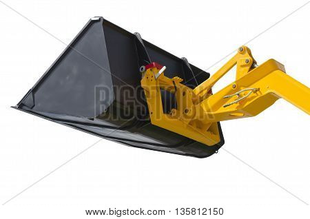 Excavator bucket isolated on a white background