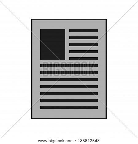 simple flat design of sheet of paper with lines on it vector illustration