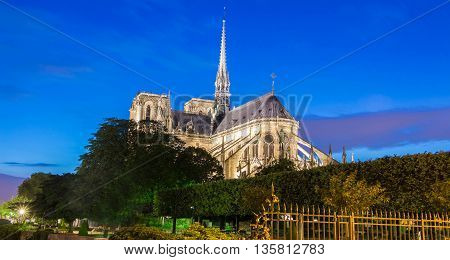 The Notre Dame is a Catholic historical cathedral on the eastern half of Ile de la Cite in Paris.Itis one of the most visited monuments in France.
