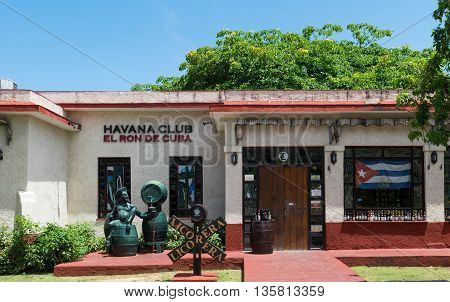 VARADERO, CUBA - JUNE 03, 2015: Museum from the rum sort Havanna Club in Varadero