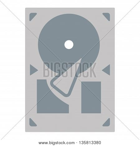 grey flat design vinyl record player or gramophone vector illustration