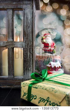 Christmas decoration. Christmas design gifts and decorations