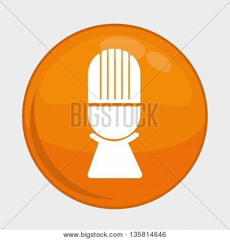 Social Media button represented by microphone multimedia app . Colorfull and isolated illustration